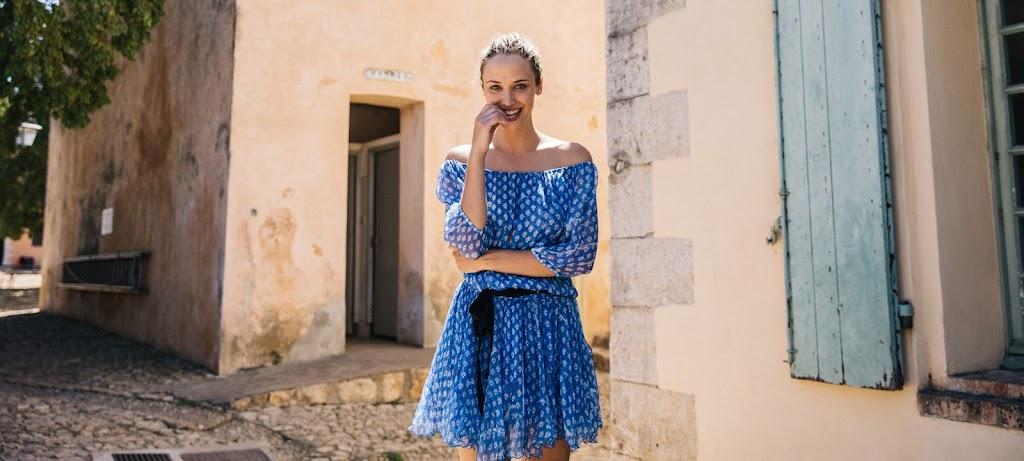 Poupette St Barth Mini Dress Joe- Blue