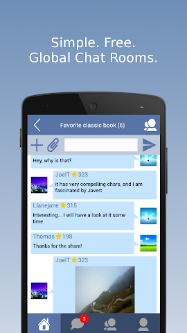 Screenshot 1 SwiftChat: Global Chat Rooms