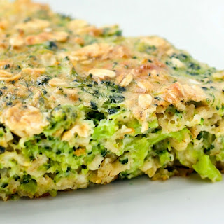 Broccoli Cheddar Oatmeal Bake.