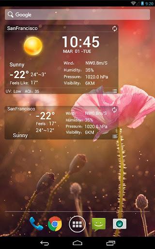 Desktop Weather Clock Widget Screenshot