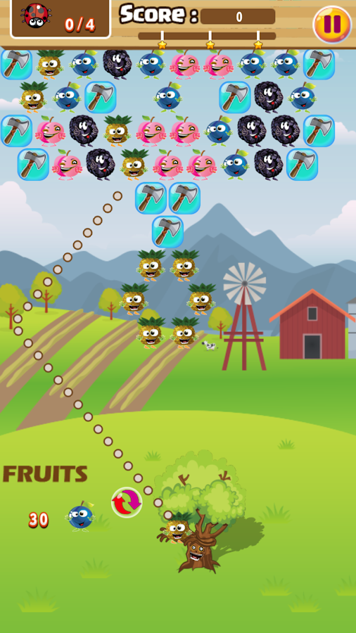 Bubble Shooter Fruits Magic- screenshot