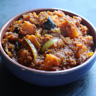 Roasted Squash & Aubergine Curry
