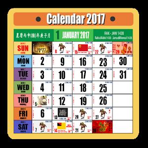 Calendar Malaysia 2017 Classic
