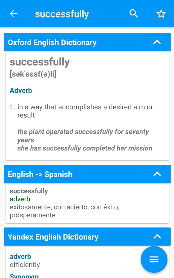 Multi Dictionary & Thesaurus (Definition synonyms ...