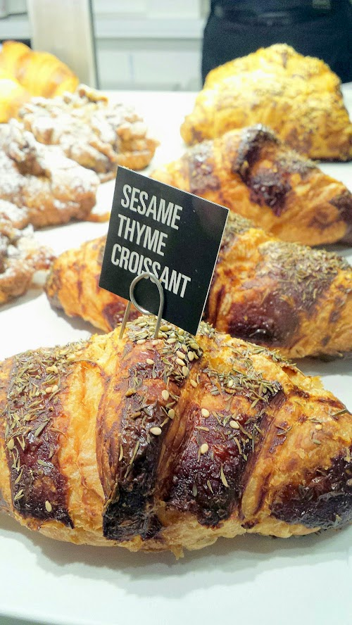 Sesame Thyme Croissant, one of the many many delicious baked good pastries at Nuvrei Patisserie and Cafe