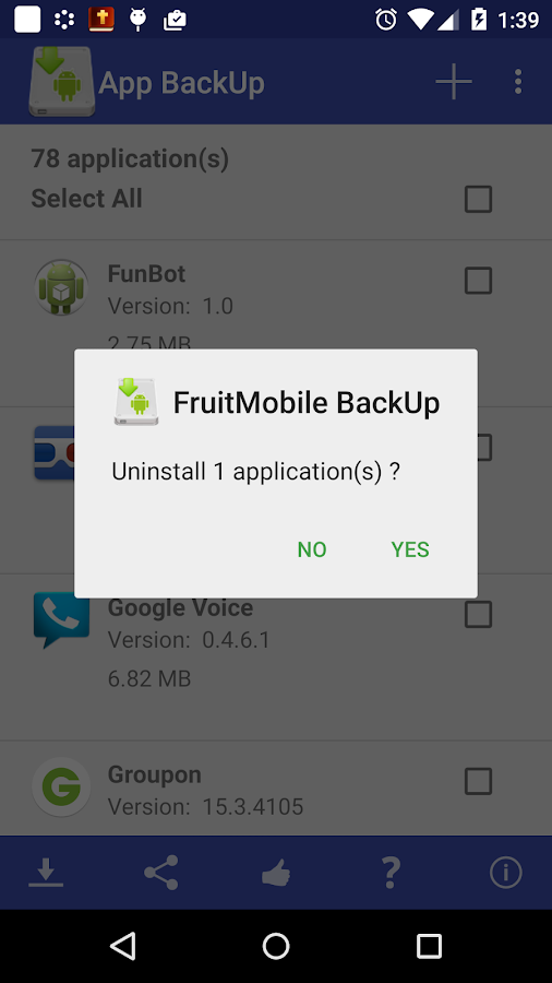 App BackUp- screenshot