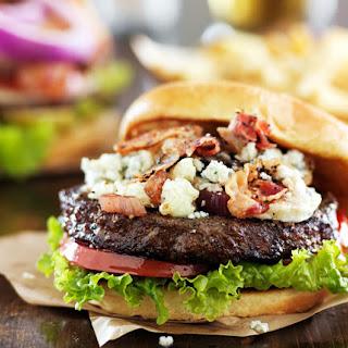 Red, White & Bleu Rotisserie Burgers.