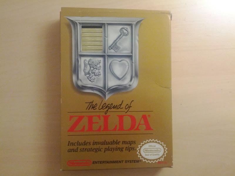 Photo: Original The Legend of Zelda for NES CIB.