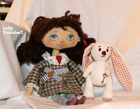 Photo: кукла Полина и белый кролик
