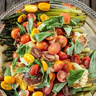 Fried Halloumi and Asparagus Salad with Sherry Vinaigrette