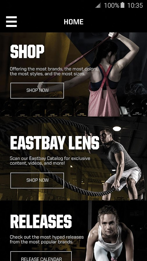 Eastbay- screenshot