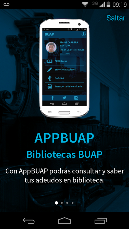 AppBUAP- screenshot