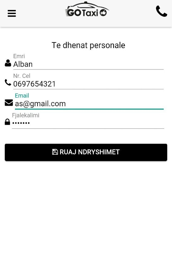 GoTaxi Albania- screenshot