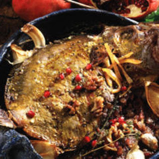Stuffed Fish with Pomegranate Sauce (Mahi-ye tu por ba anar)