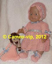 Photo: №Б7. 260 грн. Комплект на Baby Born 43 cм: платье+шапочка+пинетки+трусики