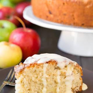 Irish Apple Cake with Custard Sauce.