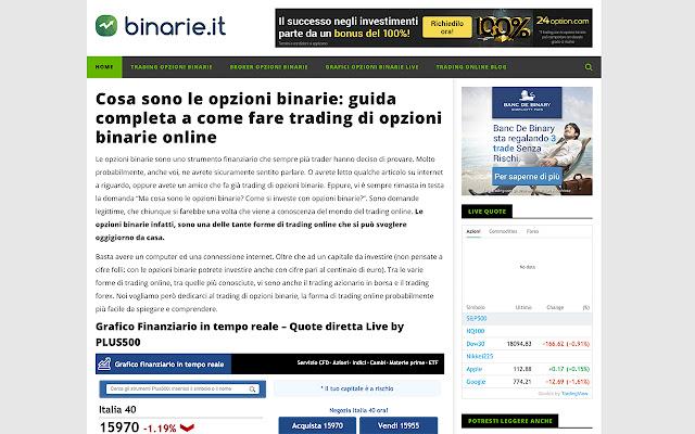 Binarie.it - Opzioni Binarie