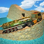 Army Oil Truck Driving 3D Icon