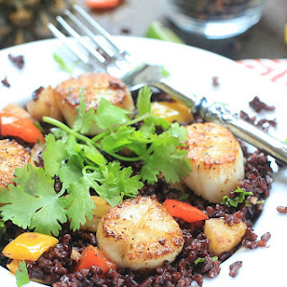 Seared Scallops w/ Coconut Rice + The Calm Belly Cookbook for IBS.