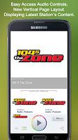 Screenshot of 104-5 The Zone