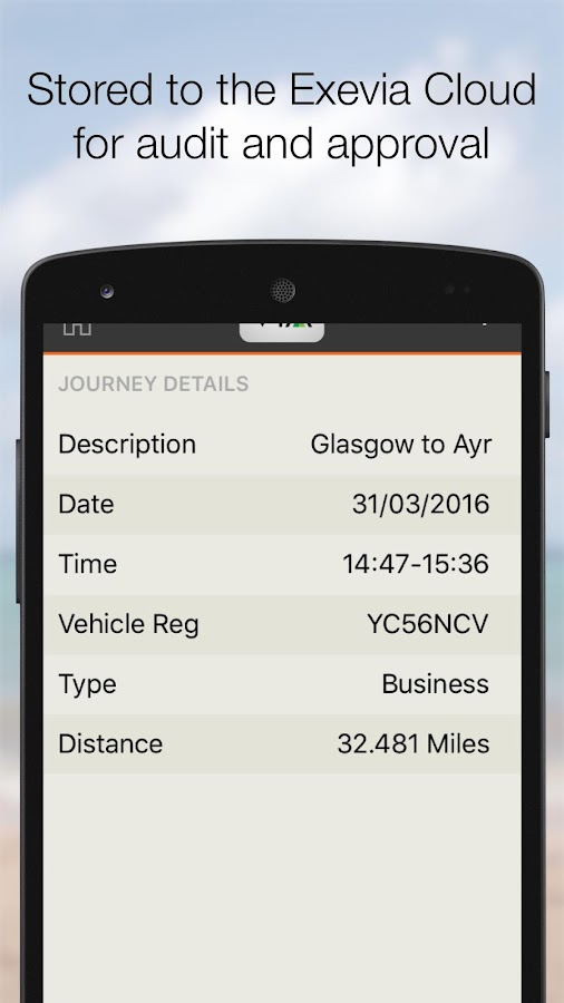 Exevia - Easy Mileage Expenses- screenshot