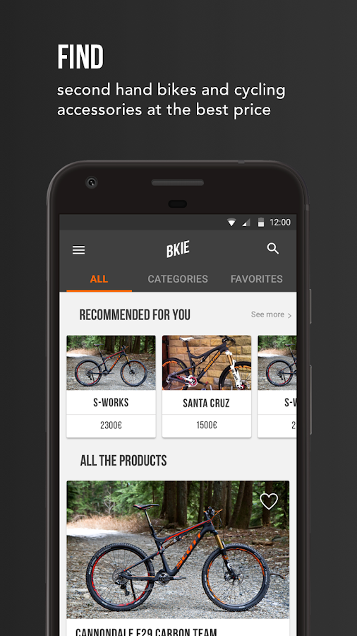 BKIE, flea market for bikes- screenshot