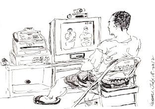 Photo: 遠距接見2012.07.18鋼筆 遠距離接見 省時又省錢 想吃會客菜 不能夠宅配