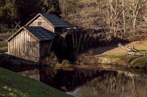 Mabry Mill by Frank Matlock II - Travel Locations Landmarks ( mill, virgina, mountain scene, grist mill, mabry mill )