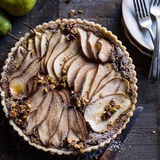 Caramelized Pear and Hazelnut Crumble Tart.