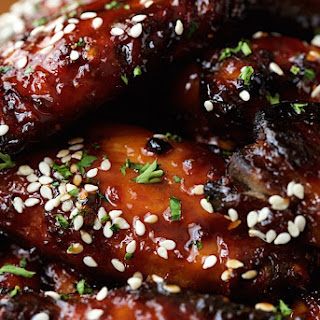Strawberry Balsamic Glazed Wings