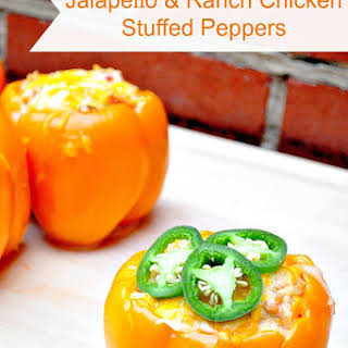 Jalapeño & Ranch Chicken Stuffed Peppers.
