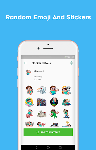 Stickers packs for WhatsApp - WAStickersApps 1.0.18 screenshots 2