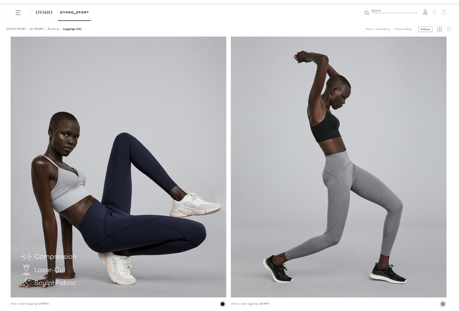 Oysho drive the user behavior by highlighting the functional benefits of each item as nudges for higher retention