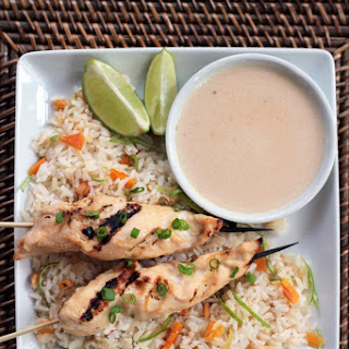 Chicken Satay with Coconut & Mango Jasmine Rice
