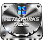 Next Launcher Theme Metalworks