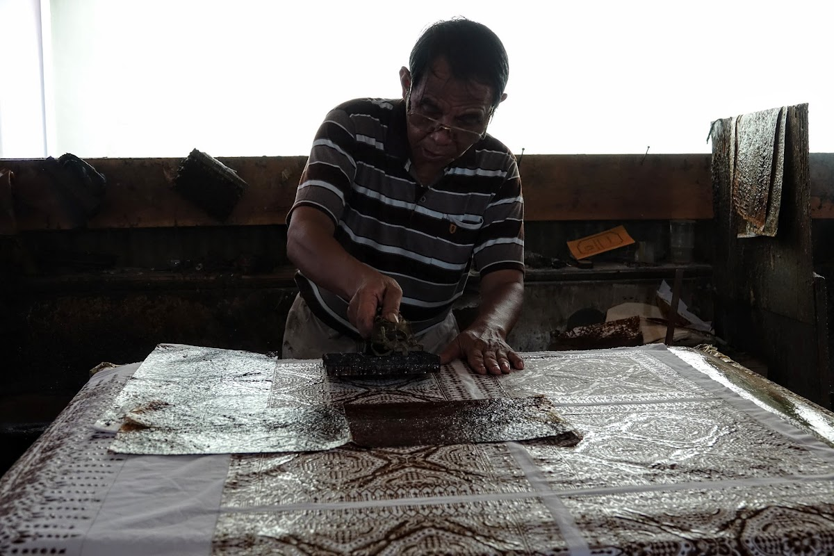 Indonesia. Crafts . Batik Stamping