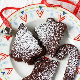 Gluten Free and Vegan Chocolate Sugar Cookies.