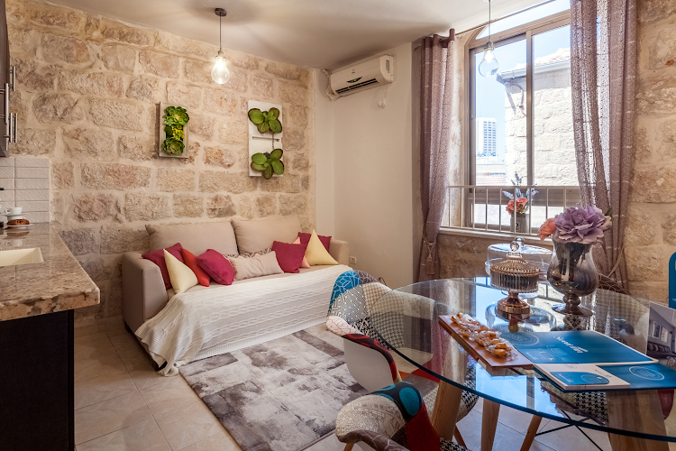 Living area at Yaffo