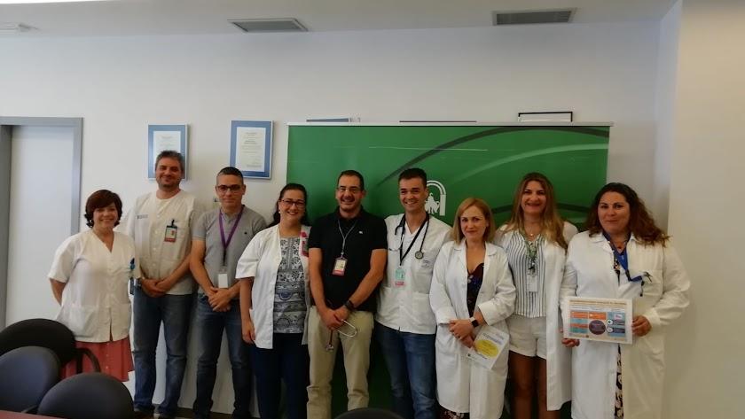 Presentación de la iniciativa realizada en el seno de la sala de reuniones del Hospital del Poniente.