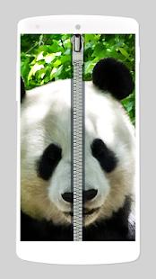 panda zipper lock screen screenshot