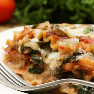 Easy Whole Wheat Vegetarian Spinach Lasagna