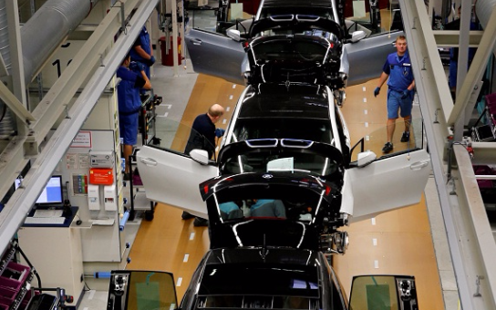 Workers assemble BMW i3 electric cars at the BMW factory production line in Leipzig, Germany.  File picture: REUTERS