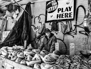 Photo: 1.00 lb Chinatown, New York City 2013 www.leannestaples.com #newyorkcityphotography  #blackandwhitephotography   #chinatown  #streetphotography  +Arnold Goodway for #streetpics   #shootthestreet  #ricohgxr