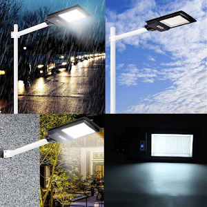 Lampa stradala 936 LED SMD, 300 W, cu senzor de lumina si telecomanda