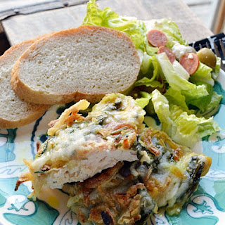 Baked Chicken with Spinach & Mushrooms