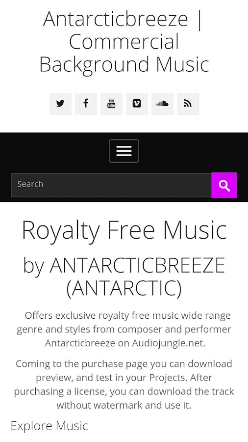 Royalty Free Music- screenshot