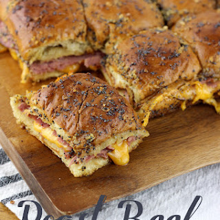 Roast Beef and Cheddar Sliders.