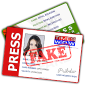 Fake ID for Press Reporter
