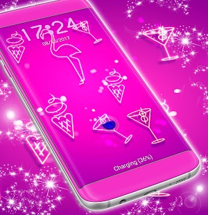 Zámek obrazovky Tapeta Neon - náhled