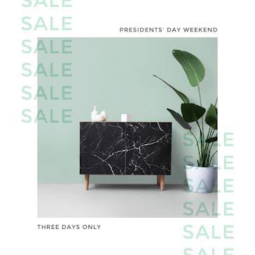 President's Day Weekend Sale - Instagram Post template